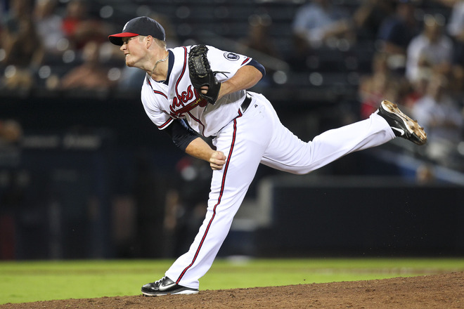 Craig Kimbrel Pitch at Washington Nationals v Atlanta Braves